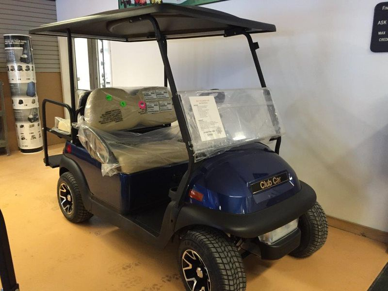 2017 Club Car Villager 4 Xf Sapphire Blue Gas Efi New
